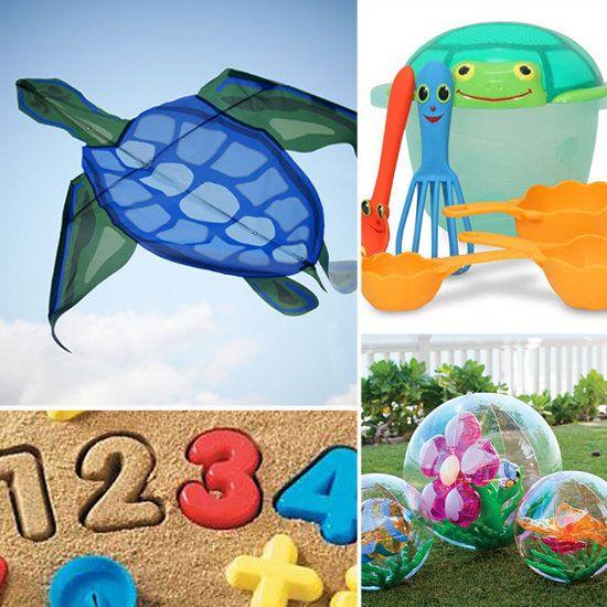 Cometas, cubo, pala rastrillo, números, pelotas. / Best Beach Toys For Kids