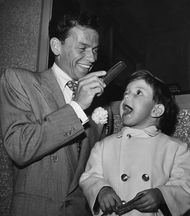 8 Touching Photos of Frank Sinatra, Jr. With His Dad