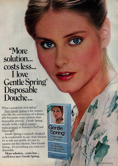 1978 ad for gentle spring douche vintage advertising pinterest vintage ads retro and we. Black Bedroom Furniture Sets. Home Design Ideas