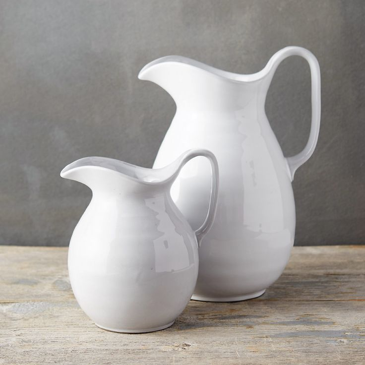 "Hand-crafted exclusively for terrain from glazed stoneware, this traditional pitcher is finished with a delicate sketch of blooming stems.- A terrain exclusive- Glazed stoneware- Food, dishwasher, and microwave safe- ImportedSmall: 7""H, 5.5""W, 6.8""L, 6.5""D, 3.5"" diameter at baseLarge: 10.6""H, 7""W, 8.5""L, 8.5""D, 4.25"" diameter at base"