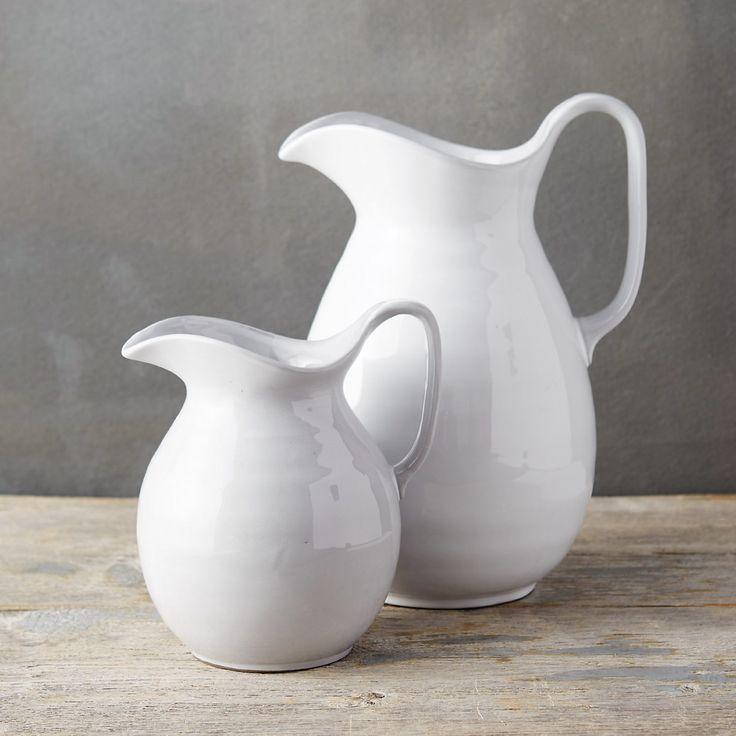 Azure Blooms Stoneware Pitcher | Terrain