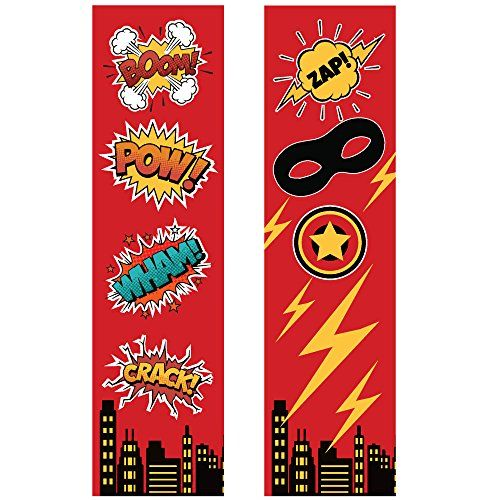 24 Superhero Bookmarks for Kids - Colorful Glossy Two Sided Design - Super Heroes Birthday Party Supplies - Reading Incentives - School Student Prizes (Red Superhero Bookmarks Bulk) - http://partysuppliesanddecorations.com/24-superhero-bookmarks-for-kids-colorful-glossy-two-sided-design-super-heroes-birthday-party-supplies-reading-incentives-school-student-prizes-red-superhero-bookmarks-bulk.html