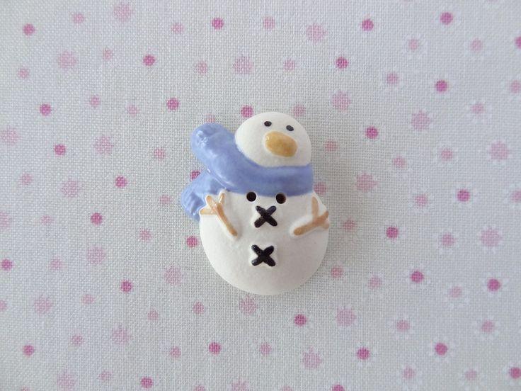 Blue  snowman   www.cherabellabuttons.com.au
