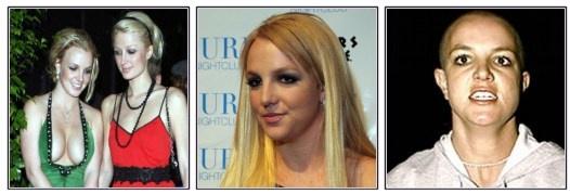 Desde muy joven conquistó los corazones de sus fans y sedujo al mundo entero con su imágen de adolescente inocente. Nadie iba a sospechar que la princesa del pop se convertiría en un mal ejemplo y en una de las figuras más escandalosas de Hollywood luego de sufir problemas de alcohol y depresión tras la separación de su marido.  Los escándalos incluyen salidas nocturnas con Paris Hilton, fotografías de sus partes íntimas, raparse completamente la cabeza y tatuarse