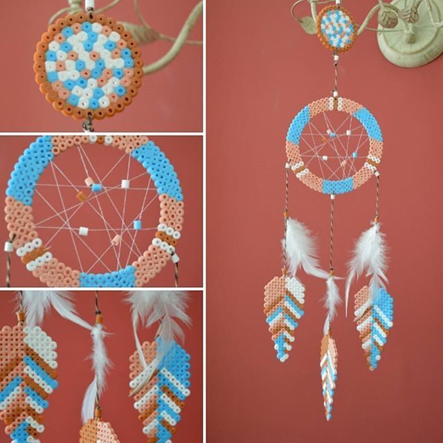 Dreamcatcher hama beads by belencg_93