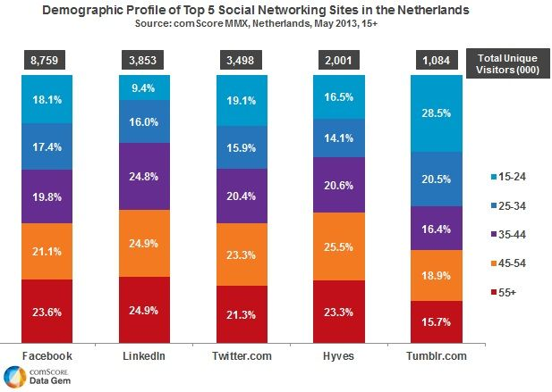 Alle cijfers over het socialmediagebruik in Nederland medio 2013 | Marketingfacts