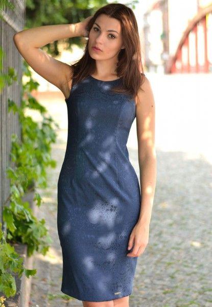 Elegancka Sukienka Granat FSU487