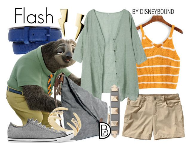 Flash by leslieakay on Polyvore featuring polyvore fashion style Patagonia Converse Valentino BCBGeneration Lacoste clothing disney disneybound disneycharacter