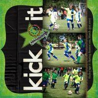 Soccer scrapbook layout