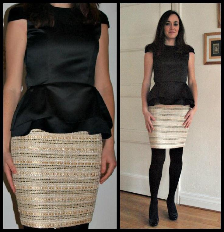 Elegant top & skirt handmade & designed by Susana Nakatani