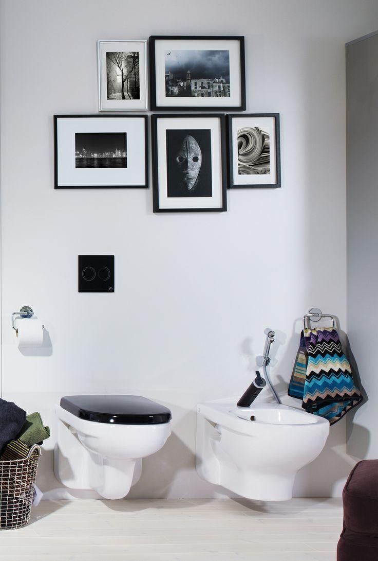 Vägghängd toalett från Artic-serien. Varför inte välja till en svart sits? | GUSTAVSBERG