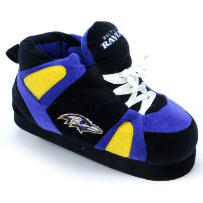 Comfy Feet NFL Sneaker Boot Slippers - Baltimore Ravens, Size: X Large (Mens 10 - 11.5/Womens 11 - 12.5) - BAL01XL