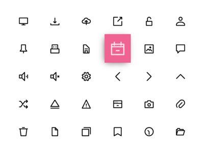 UI icon set - pixel perfect