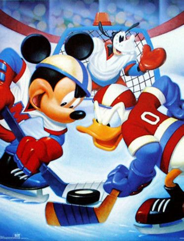 Mickey Mouse and Friends Ice Hockey Posters at AllPosters.com