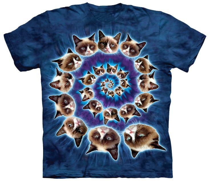 Cat Grumpy Swirl – Tees Are Me