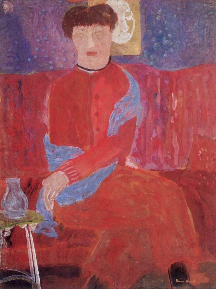 1936 Woman In Red Dress | Hungarian Margit Anna, born Margit Sichermann, 1913~1991