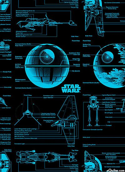 Star Wars II - Starship Blueprints - Sky Blue