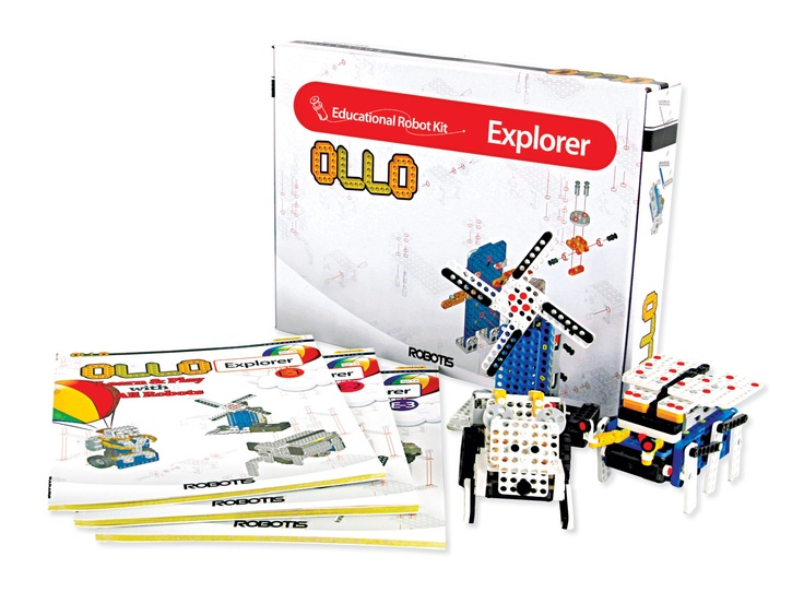 Developed with robotic education in mind, OLLO Explorer Educational Robot curriculum is complete with a reconfigurable robot (and eleven other models) to build and program. The modular building system with innovative two-part rivets allows you to build and take apart custom robots very quickly, and the rugged pieces will not break with repeated use. Learning robotics has never been easier, more affordable, or more fun.