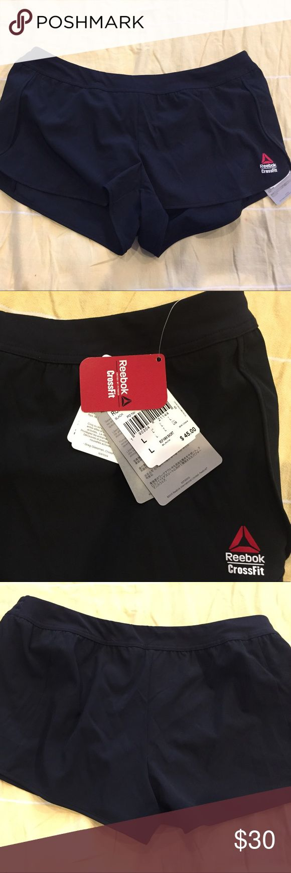 CrossFit Shorts Reebok CrossFit shorts with inner lining. Never worn, NWT. Reebok Shorts