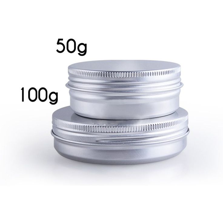 50 pcs Aluminum lip balm Tins with screw lids,  small round metal cases - Skincare Facial, Bath Packaging