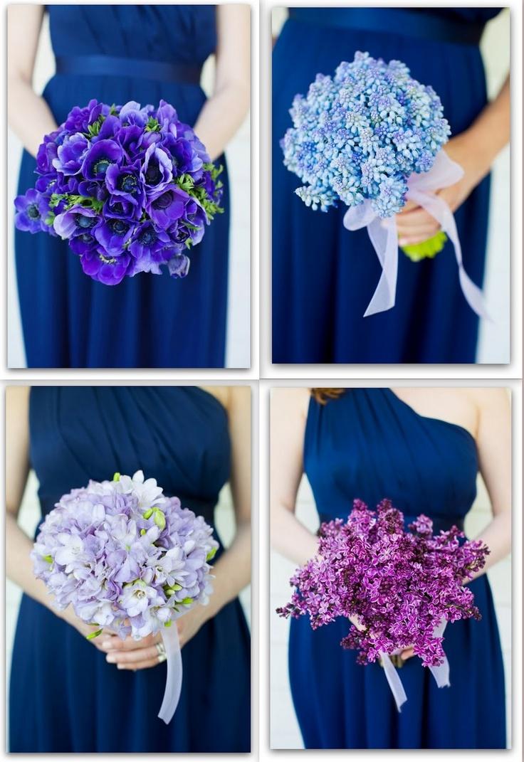 Bouquet per le damigelle,  fiori di lillà  fresia  anemoni