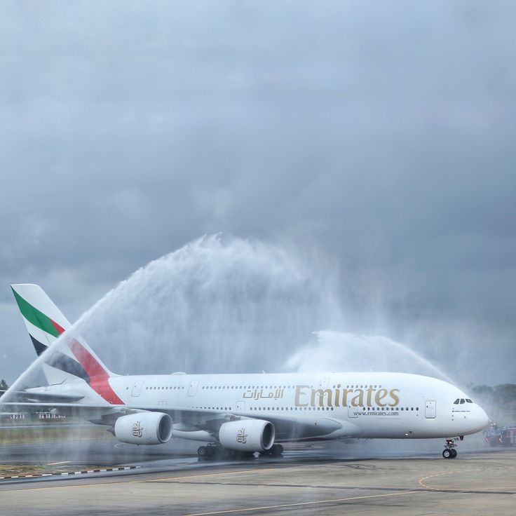 Our @Airbus A380 landed at Colombo's Bandaranaike International Airport today on a special one-off service, marking the first ever commercial A380 flight to Sri Lanka.
