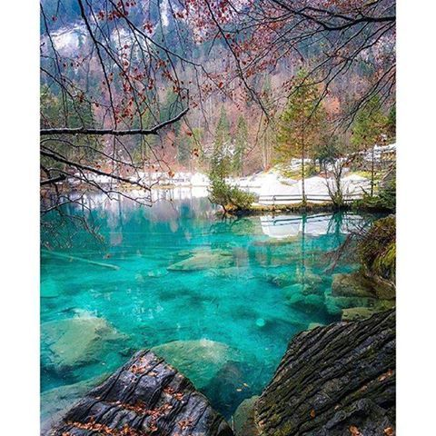 Save up to 85% on the hotel, where you are going. Check www.zyntravel.com Use Promo Code 5869 for best price. Blausee, Bern - Switzerland Pic @SennaRelax
