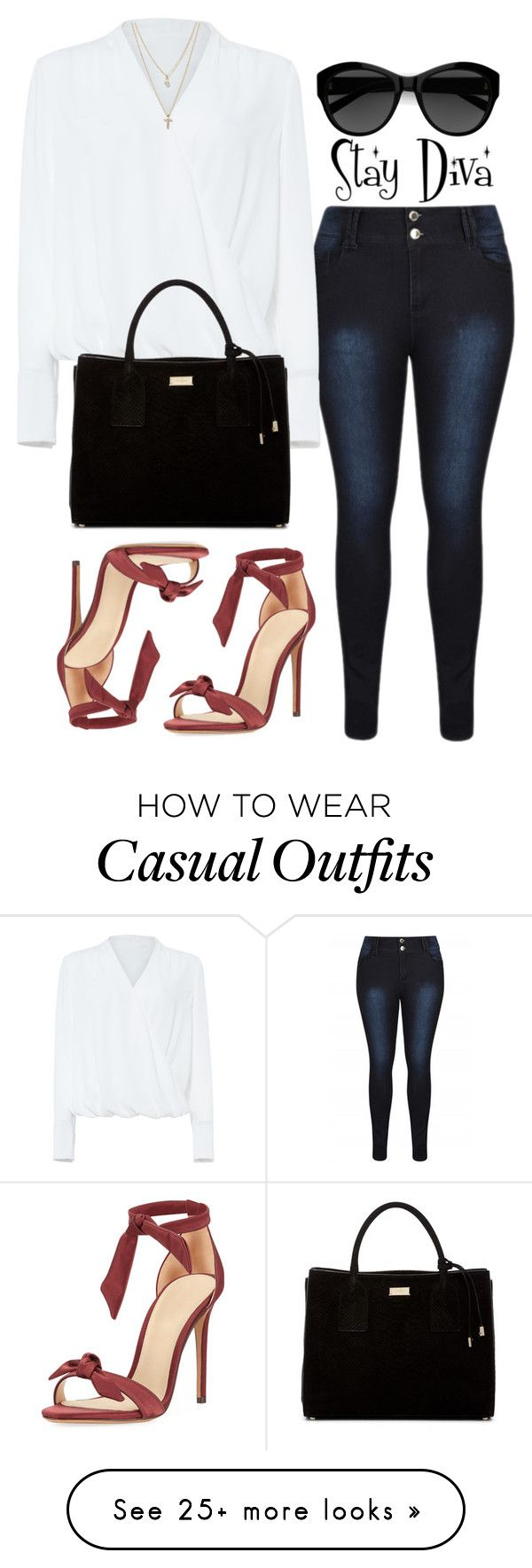 """Casual"" by staydiva on Polyvore featuring Alexandre Birman, Damsel in a Dress, Kate Spade, Carla Zampatti and LOFT"
