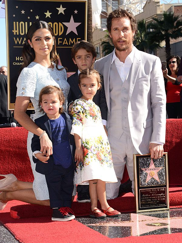 Matthew McConaughey brought along his biggest supporters - wife Camila and kids Levi, Vida and Livingston - to the Monday unveiling of his star on Hollywood's Walk of Fame....