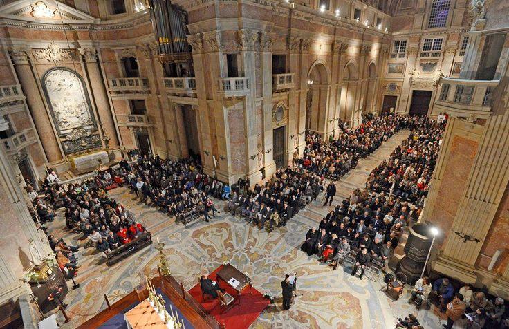 Missa do tricentenário do lançamento da 1ª pedra da Basílica de Mafra.