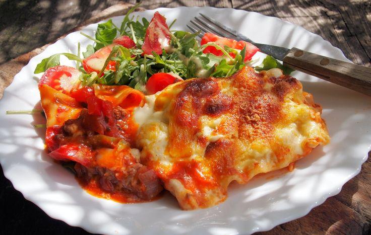 Lasagne met gerookte kalkoen