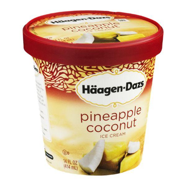 Haagen-Dazs Ice Cream Pineapple Coconut. Oh my!  Oh my!  Oh my!  This is soooooo good!