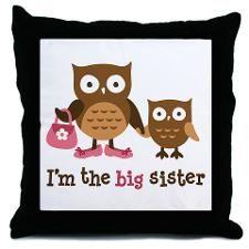 Big Sister - Mod Owl Throw Pillow