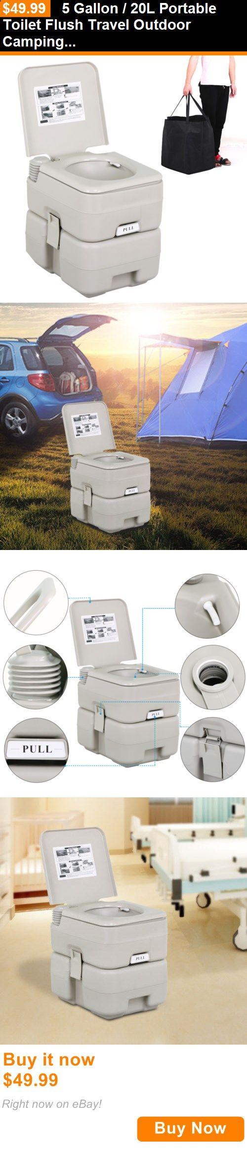 Other Camping Hygiene Accs 181400: 5 Gallon / 20L Portable Toilet Flush Travel Outdoor Camping Hiking Toilet Potty BUY IT NOW ONLY: $49.99