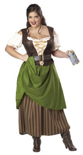 #FashionBug Plus-Size Tavern Maiden Dress #Halloween Costume www.fashionbug.us