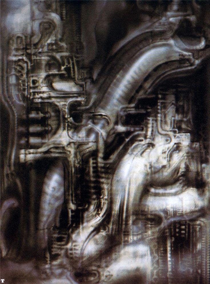 HR Giger | biomechanical landscape 12
