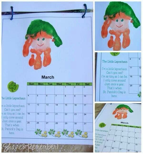 March Calendar Ideas : Best images about handprint calendar on pinterest