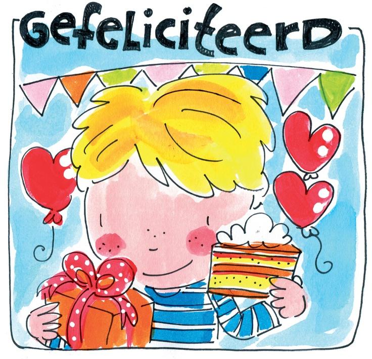 Gefeliciteerd kaart van Blond Amsterdam