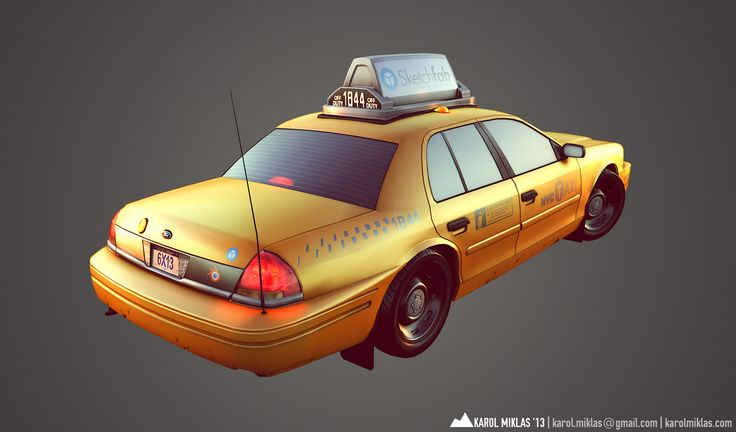 Low Poly NYC Taxi