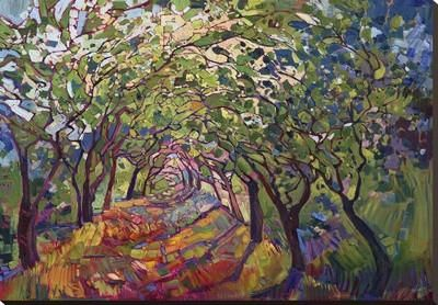 The Path Stretched Canvas Print by Erin Hanson at Art.com