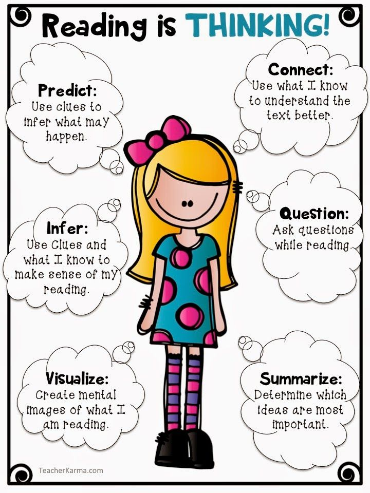 Reading is THINKING Freebie to improve Comprehension ~ TeacherKarma.com                                                                                                                                                                                 More