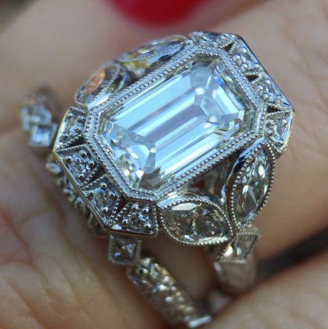 Image result for david klass vintage halo engagement rings