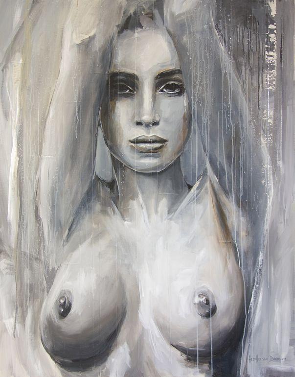 "Saatchi Art Artist: Hesther Van Doornum; Acrylic 2014 Painting ""For your eyes only"""