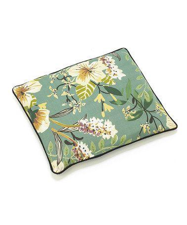 Green Flora Pet Futon Cushion by Up Country #zulily #zulilyfinds