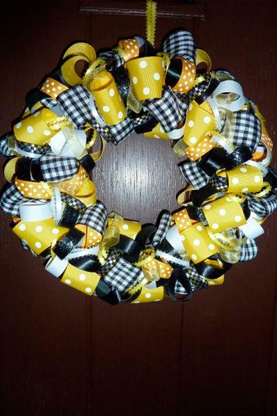 diy ribbon wreath | Quad City Moms Blog