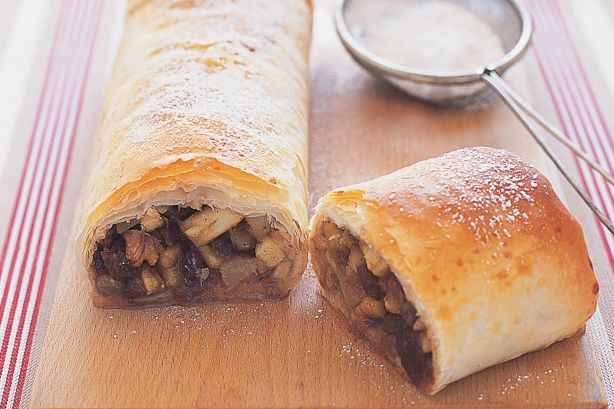 Apple And Pear Strudel - This moist apple and pear strudel offers all of the comfort of a warm winter dessert.