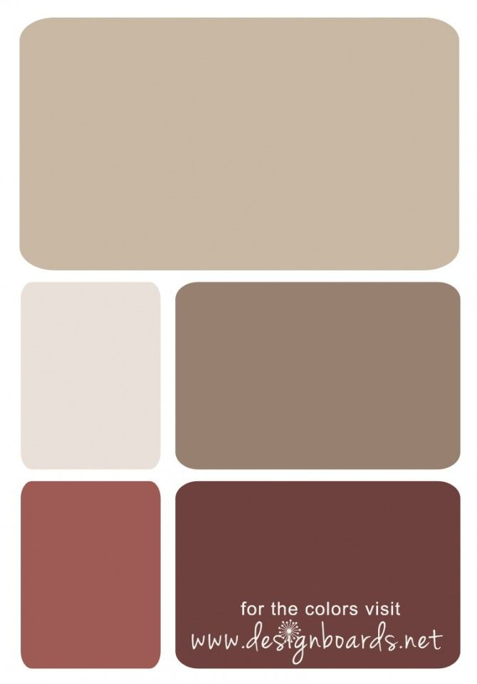 Color Board: Burgundy and Brown | Design Boards