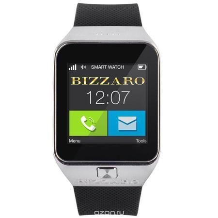 Bizzaro CIW505SM, Silver смарт-часы  — 6390 руб. —  Умные часы Bizzaro CIW505SM - полезный и удобный гаджет. Часы способны заменить мобильный телефон, благодаря возможности установки собственной SIM-карты. При этом, они получают все основные функции и преимущества мобильной связи, не теряя контакта с вашим смартфоном. Теперь нет необходимости держать смартфон под рукой! Вы можете получать и отправлять сообщения, набирать номера телефонов на цветном и контрастном дисплее часов. Соединение по…
