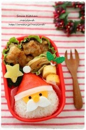 Christmas Kyaraben * Santa's rice ball