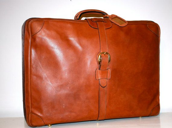 Vintage ~ GUCCI ~ Suitcase Brown Pebbled Leather Extra ~ by StatedStyle ~ $795.00